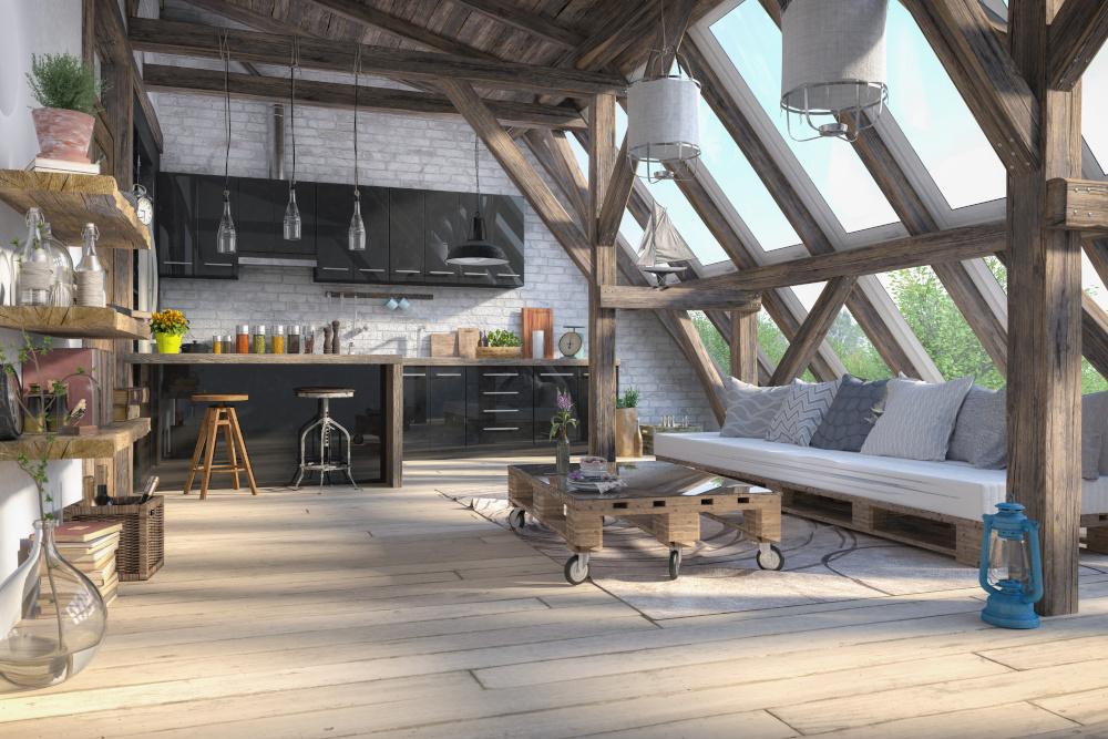 mieszkanie w stylu skandynawskim kuchnia i salon