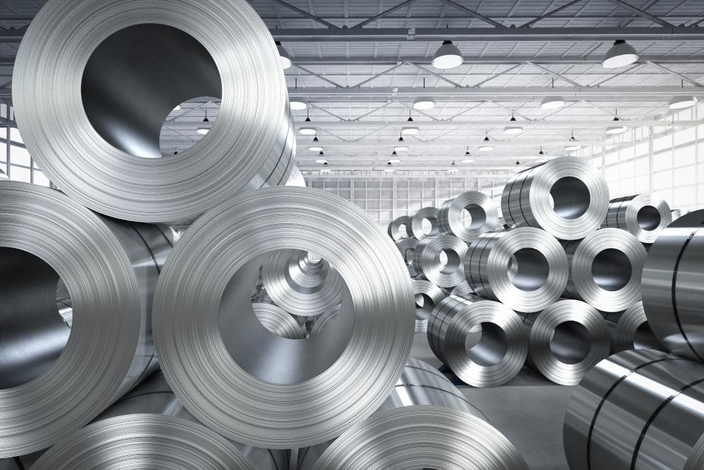 rolki metali w hurtowni stali